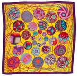 Hermes L'art du Temari Cashmere Silk Shawl