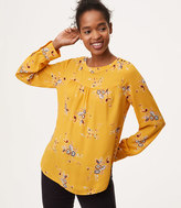 LOFT Marigold Shoulder Button Blouse