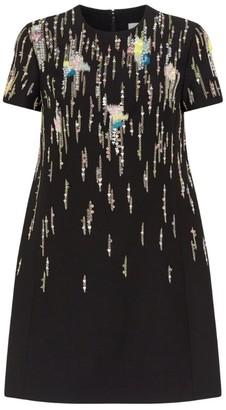 Valentino Embellished Short-Sleeved Mini Dress