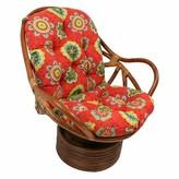 Swivel Indoor/Outdoor Rocking Chair Cushion Bay Isle Home Fabric: Valeda Blueberry