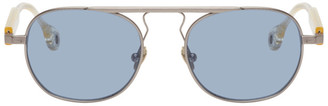 Études Silver and Transparent Candidate Sunglasses