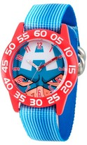 Marvel Boys' Marvel's Avengers Captain America Red Plastic Time Teacher Watch - Blue