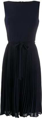 Polo Ralph Lauren Pleated-Skirt Cocktail Dress