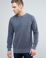 Jack & Jones Originals Crew Neck Sweatshirt With Pocket In Washed Jersey
