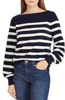 Ralph Lauren Striped Cashmere Blouson-Sleeve Sweater - 100% Exclusive