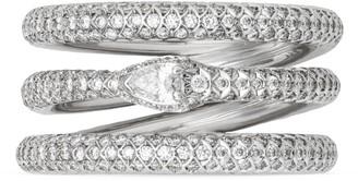 Gucci White gold and diamond three band Ouroboros ring