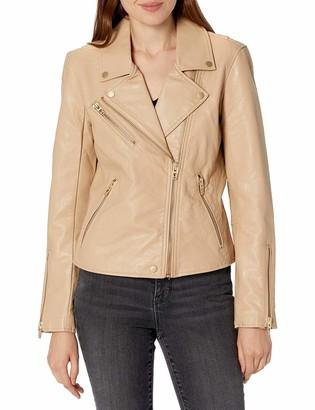 Blank NYC womens Vegan Leather Moto Jacket