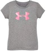 Under Armour Girls' Pre-School UA Glitter Big Logo T-Shirt