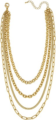 Canvas Jewelry Anaise Layered Chain Necklace