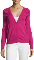 See by Chloe V-Neck Long-Sleeve Cardigan, Fuxia