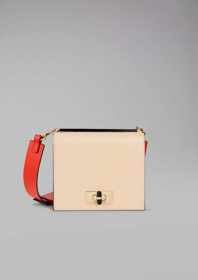 Giorgio Armani Cross Body Bag In Smooth Leather