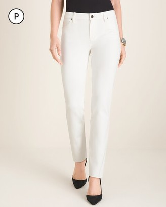 Chico's Petite Ponte Five-Pocket Slim Pants