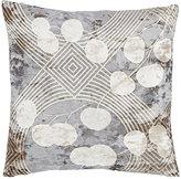 Aviva Stanoff Eucalyptus-Leaf-Pressed Velvet Pillow