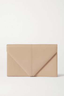 Hunting Season Envelope Leather Clutch - Cream
