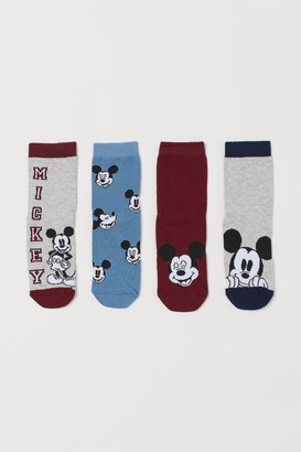 H&M 4-pack Non-slip Socks - Blue