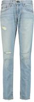 Rag & Bone Distressed low-rise boyfriend jeans