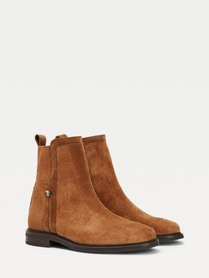 Tommy Hilfiger Essential Suede Flat Boots