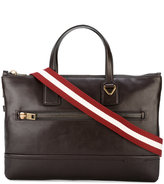 Bally striped strap messenger bag - men - Leather - One Size