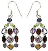 "Novica Artisan Crafted Sterling ""Color Curtain""Gem Earrings"