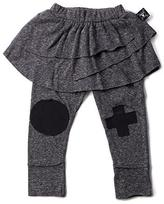 Nununu Knee Patch Leggings Skirt in Charcoal