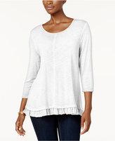 Style&Co. Style & Co Ruffle-Hem Tunic, Created for Macy's