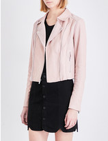 Paige Silvie suede and leather jacket