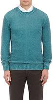 Drumohr Men's Cashmere Crewneck Sweater-TURQUOISE