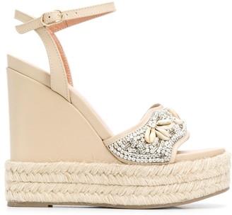Twin-Set Embellished Wedge Sandals