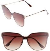 BP Women's Inception 62Mm Cat Eye Sunglasses - Gold