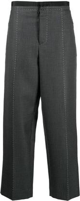 Maison Margiela Wool Check Straight Trousers