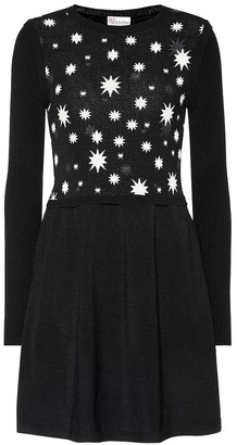 RED Valentino Jacquard knit and crepe dress