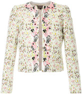 Giambattista Valli floral embroidery cropped jacket
