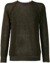 Roberto Collina perforated detail sweatshirt - men - Silk/Cotton - 52
