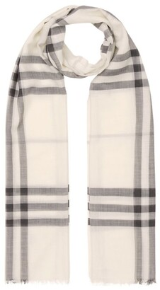 Burberry Lightweight Wool-Silk Check Scarf