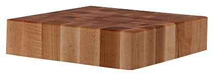 "John Boos 24"" Square Maple Chinese Chopping Block"