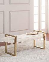 Bernhardt Nia Brass Framed Bench