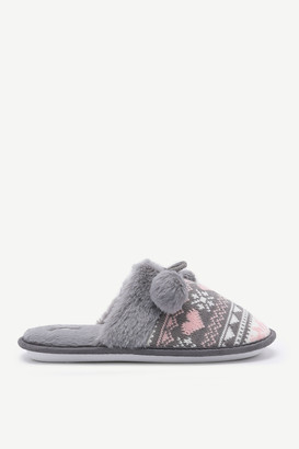 Ardene Fair Isle Slide Slippers