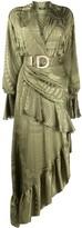 Balmain jacquard asymmetric dress