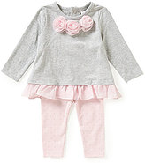 Starting Out Baby Girls 3-24 Months Bow-Detailed Top & Leggings Set