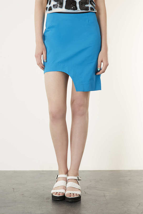 Topshop Curve Hem Pencil Skirt