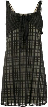Chanel Pre Owned Grid Pattern Mini Dress