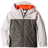 Columbia Kids Rain-Zillatm Jacket (Little Kids/Big Kids) (Grill/Slate Grey/State Orange) Boy's Coat