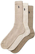 Polo Ralph Lauren 3-Pack Ribbed Cushion Socks