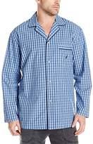 Nautica Men's Plaid Long Sleeve Sleep Shirt