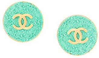 Chanel Pre Owned 1993 CC button earrings