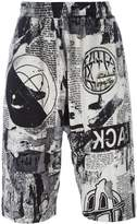 Kokon To Zai newspaper print shorts