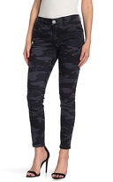 Democracy Camo Printed Skinny Ankle Jeans (Petite)
