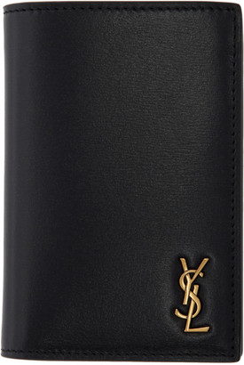 Saint Laurent Black Tiny Monogramme Credit Card Holder