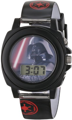 Disney Star Wars Kids' DAR3517 Darth Vader Talking Watch With Black Rubber Band