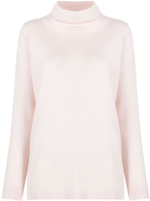 Allude Loose Fit Roll Neck Jumper